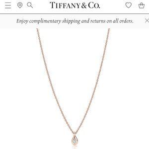 Elsa Peretti Pear Diamond Necklace
